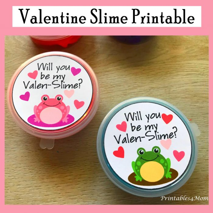 DIY Slime Valentines For Kids Printables 4 Mom