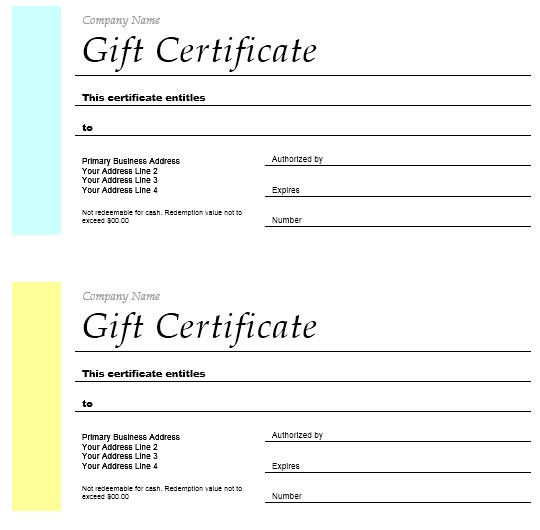 12 free sample holiday gift certificate templates printable samples here is preview of another sample holiday gift certificate template created using ms word yadclub Gallery