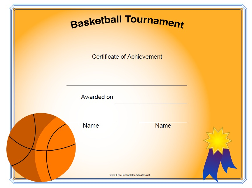 13 free sample basketball certificate templates printable samples here is preview of another sample basketball certificate template in pdf format yadclub Image collections