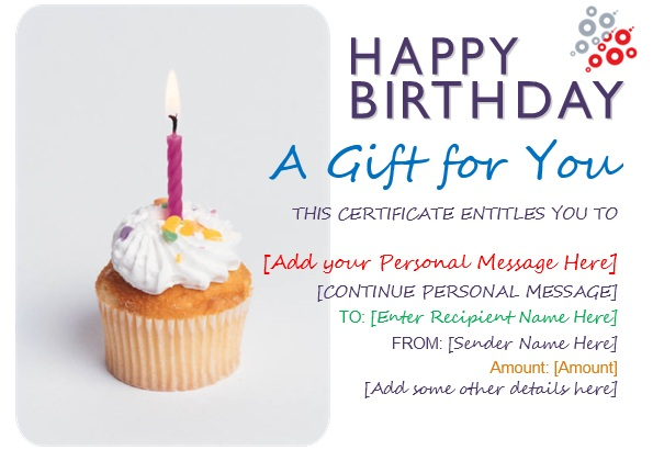 13 free sample birthday gift certificate templates printable samples here is preview of another sample birthday gift certificate template created using ms word yelopaper Gallery