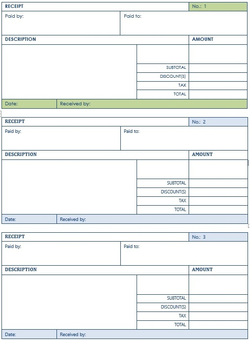 7 Free Sample Transfer Receipt Templates - Printable Samples