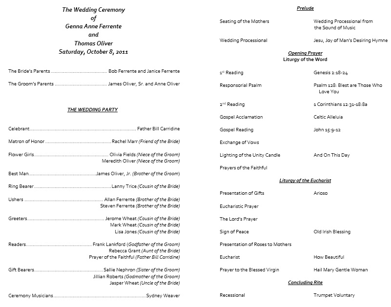 here is preview of another sample wedding brochure template created using ms word
