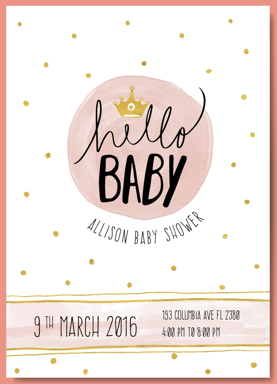 9 free sample baby shower invitation templates