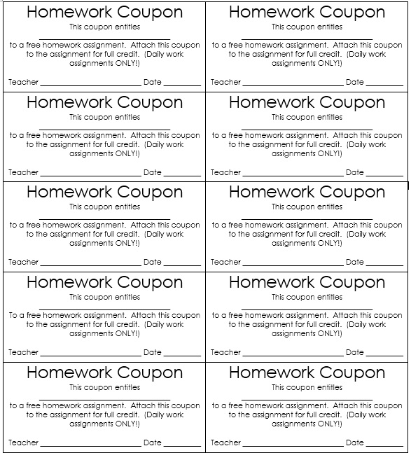 Free Kids Discount Coupon Templates