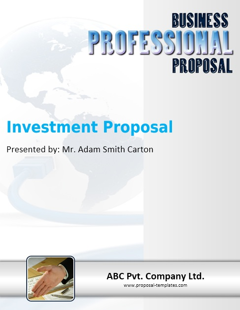 13 Free Sample Investment Proposal Templates Printable Samples