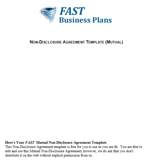 Free Sample NonDisclosure Agreement Templates  Printable Samples