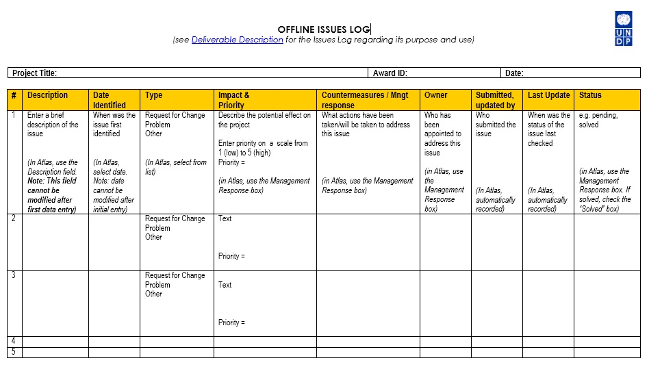 13 free sample issue log templates printable samples for Project management issues log template