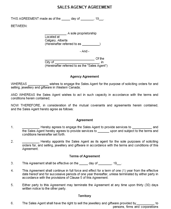 Sales Contract Sample. Printable Sample Personal Training Contract