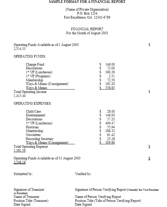 Free Sample Annual Financial Report Templates  Printable Samples