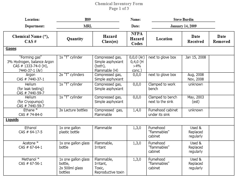 Simple-Chemical-Inventory-Form 10 - Printable Samples