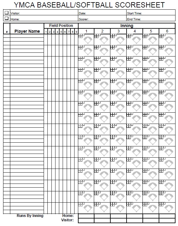 Baseball score sheet template basic baseball scorecard template 13 free sample softball score sheet templates printable samples pronofoot35fo Choice Image