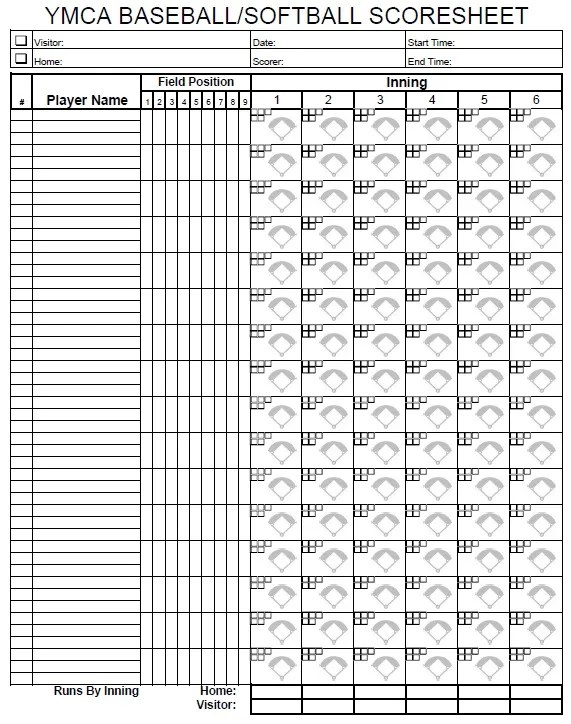 Versatile image pertaining to softball score sheet printable