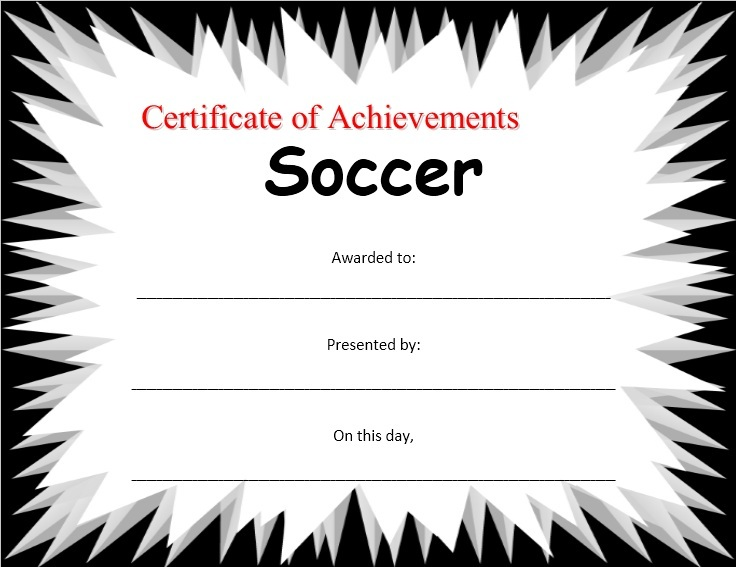 13 free sample soccer certificate templates printable samples here is preview of another sample soccer certificate template created using ms word yadclub Image collections