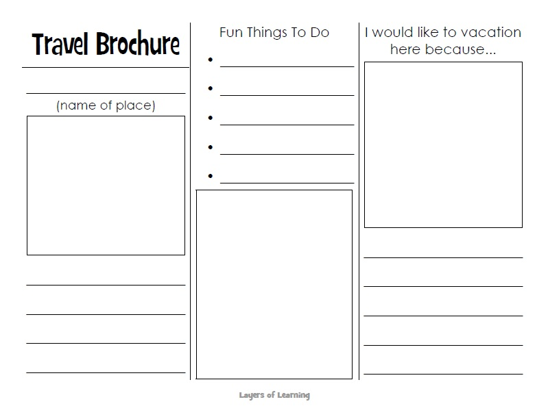 Free Sample Tourist Brochure Templates  Printable Samples