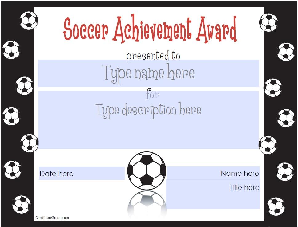 soccer award template