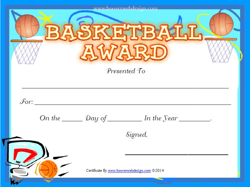 13 Free Sample Basketball Certificate Templates – Printable Samples