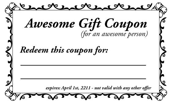 sample coupon template