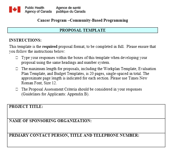 13 Free Sample Government Project Proposal Templates Printable Samples