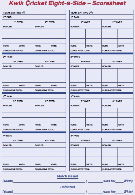 11 Free Sample Cricket Score Sheet Templates – Printable Samples