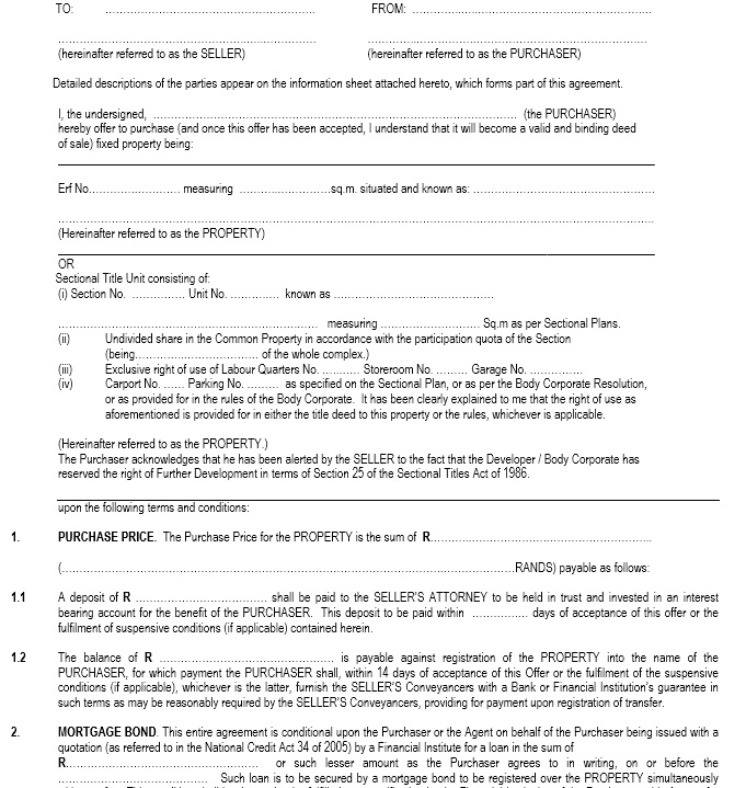 13 Free Sample Purchase Agreement Templates Printable Samples – Property Purchase Agreement Template