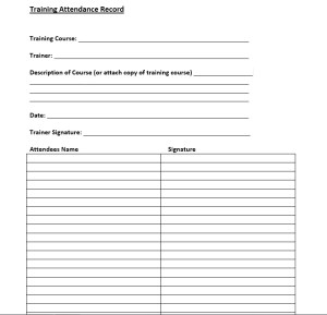 training course description template