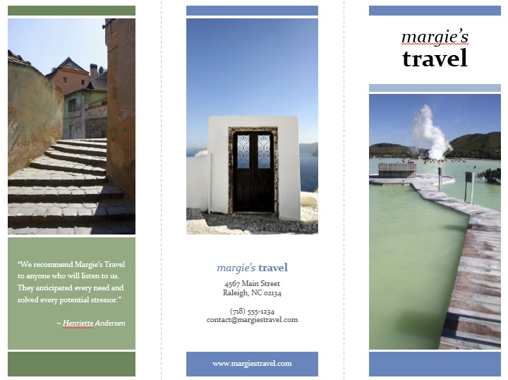 10 Free Sample Tourist Brochure Templates – Printable Samples