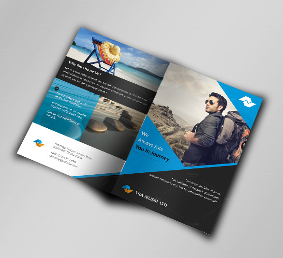 11 free sample travel brochure templates printable samples for Elegant brochure templates