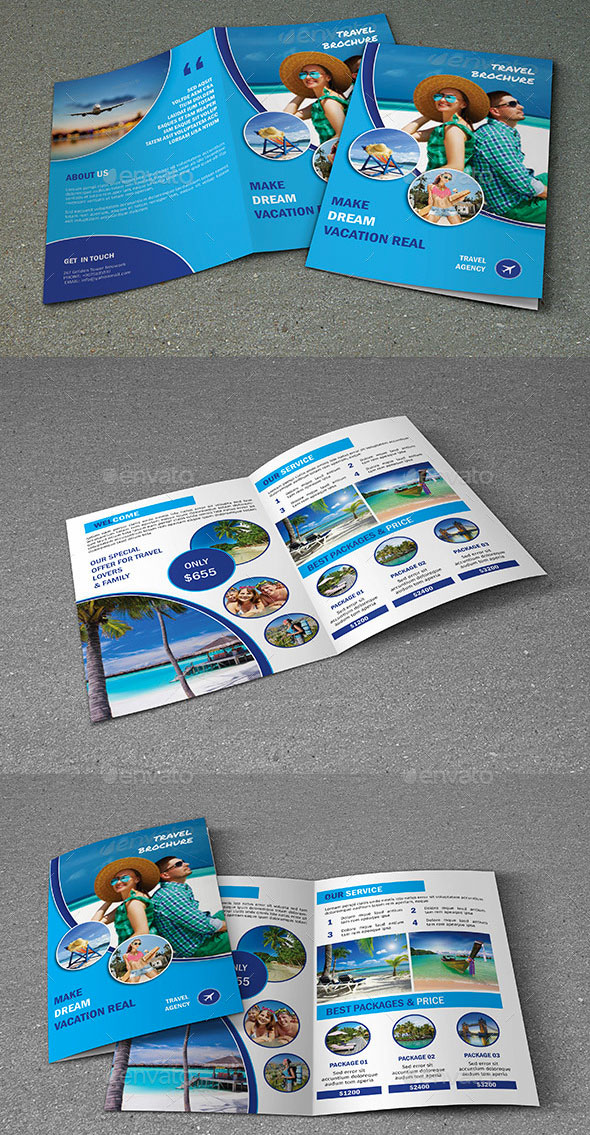 11 Free Sample Travel Brochure Templates – Printable Samples