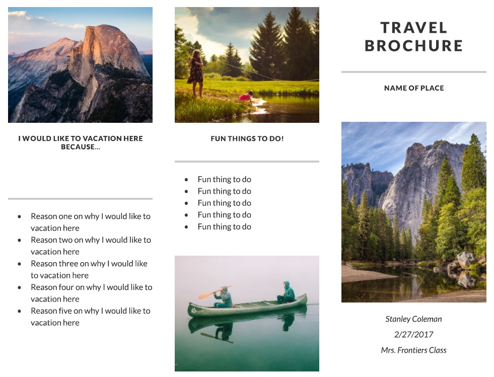 11 free sample travel brochure templates
