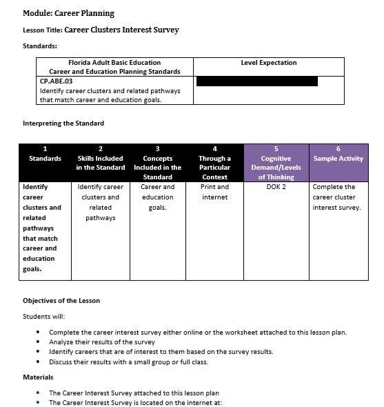 vocational surveys 7 free sle career clusters interest survey printable 5705