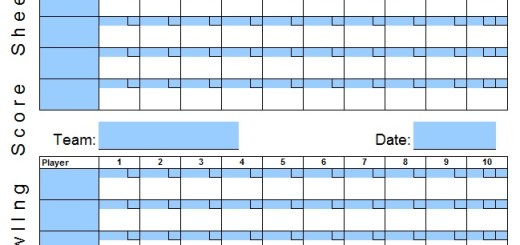 Score Sheet Examples – Printable Samples