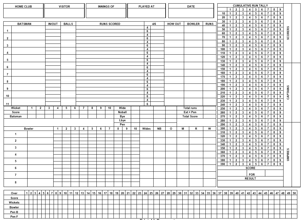 Free Sample Bowling Score Sheet Templates  Printable Samples