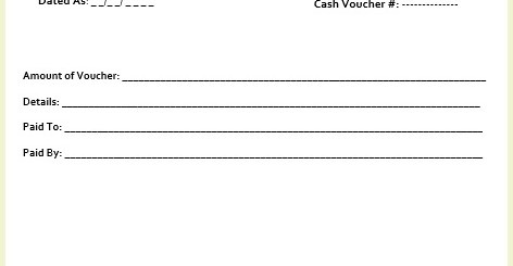 8 free sample cash voucher templates