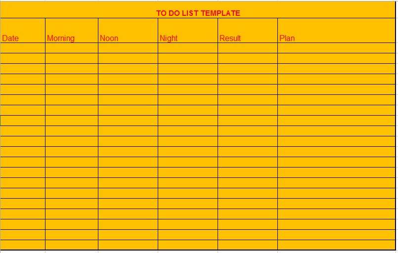 10 Free Sample Monthly To Do List Templates Printable Samples – Another Word for to Do List