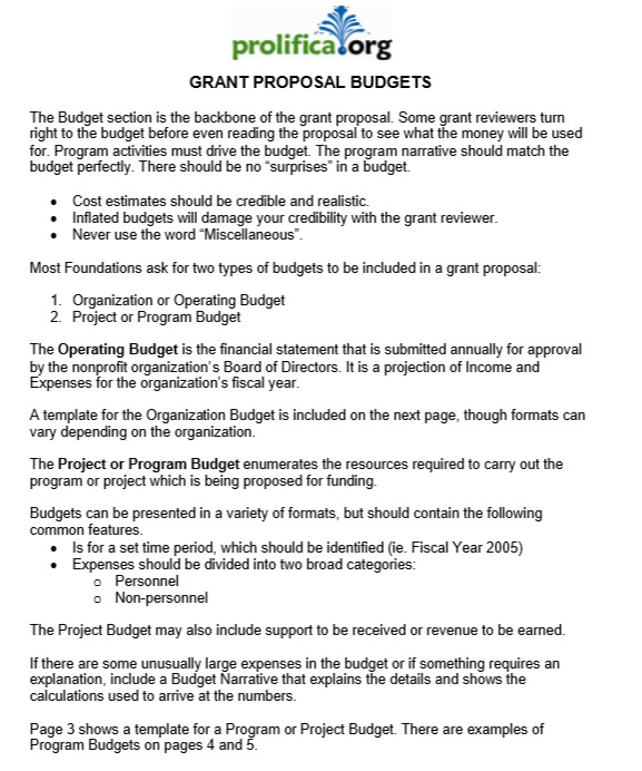 9 free sample grant proposal templates printable samples here is preview of another sample grant proposal template in pdf format saigontimesfo