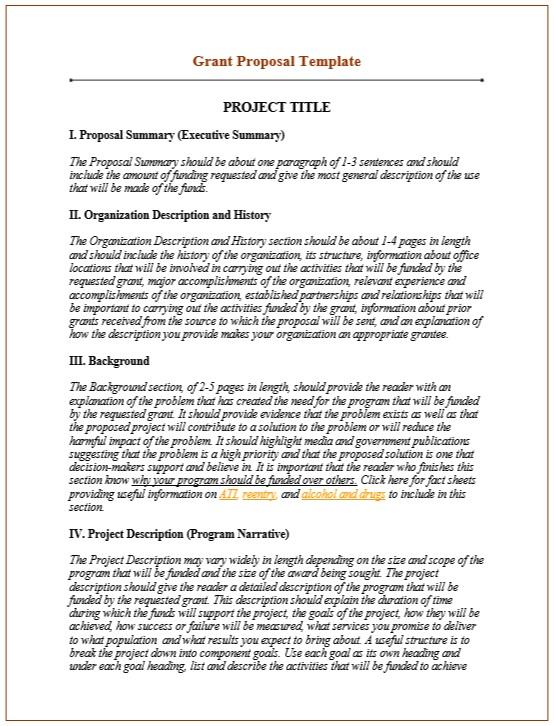 9 Free Sample Grant Proposal Templates Printable Samples