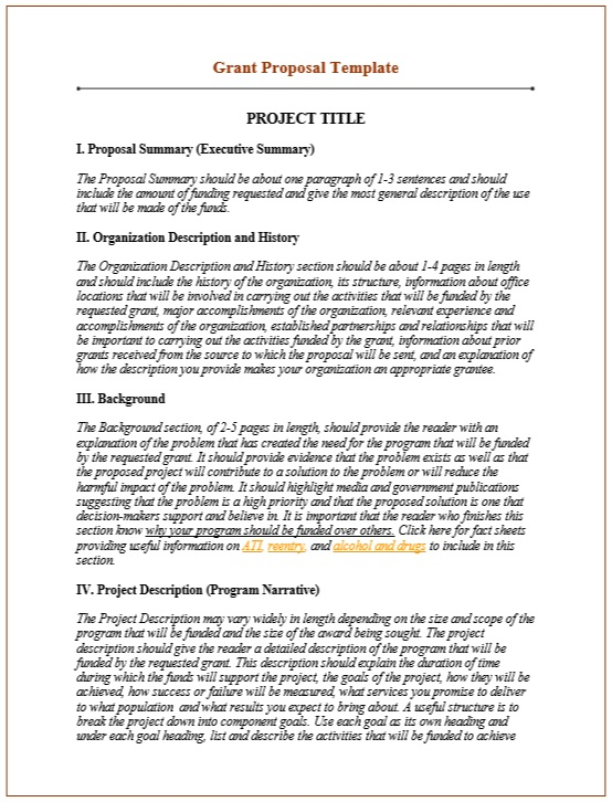 Here Is Preview Of Another Sample Grant Proposal Template ,in PDF Format