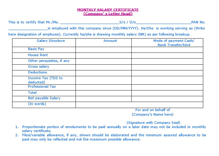 9 free sample income certificate templates printable samples here is preview of another sample income certificate template in pdf format altavistaventures Choice Image