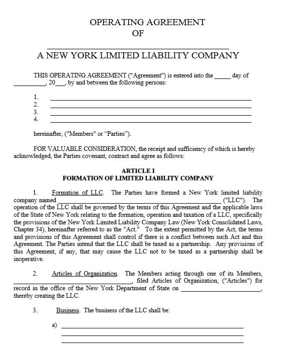 Sample LLC Operating Agreement  Dartmouth Engineer