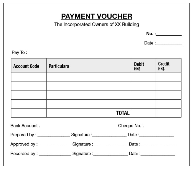 10 free sample payment voucher templates printable samples