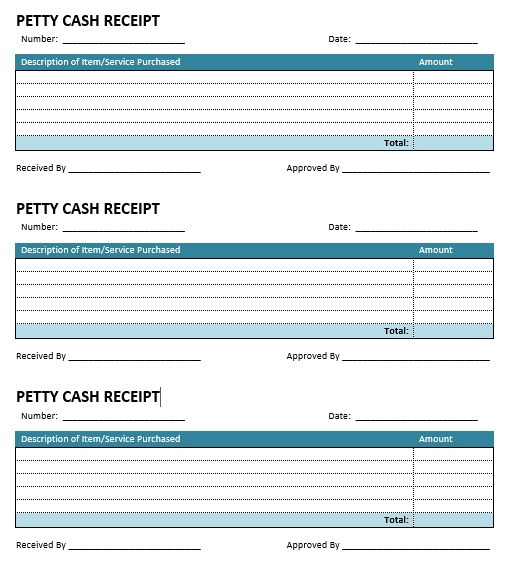 here is preview of another sample petty cash voucher template created using ms word