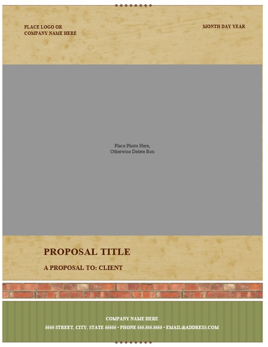 Free Sample Real Estate Proposal Templates  Printable Samples