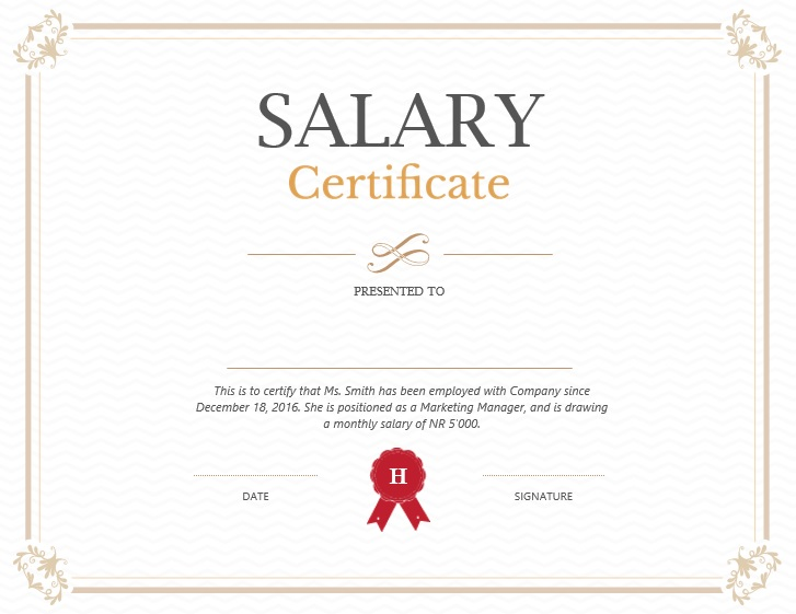 Here Is Preview Of Another Sample Income Certificate Template Created Using  MS Word,