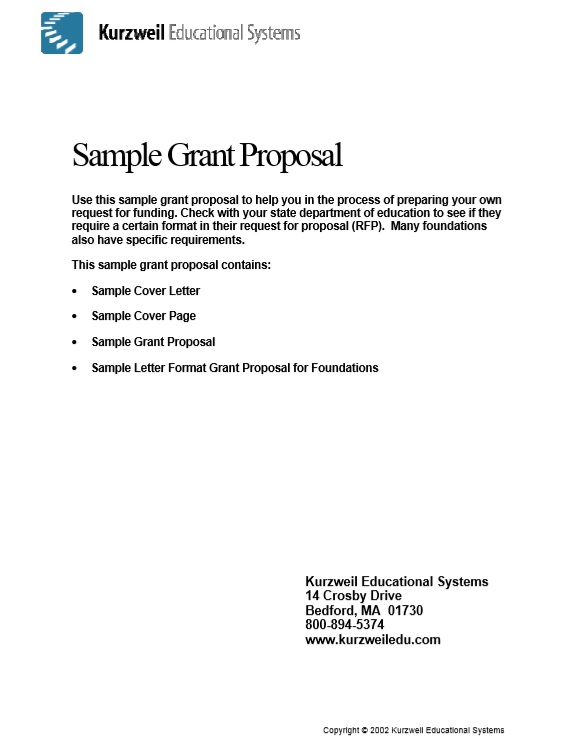 Free Sample Grant Proposal Templates  Printable Samples