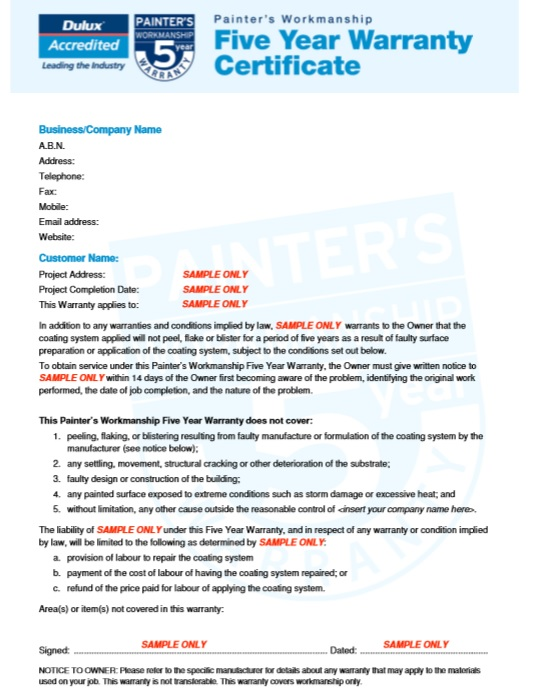 Pretty warranty template ideas example resume ideas alingari 8 free sample warranty certificate templates printable samples yadclub Gallery