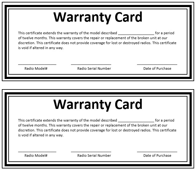 8 Free Sample Warranty Certificate Templates Printable