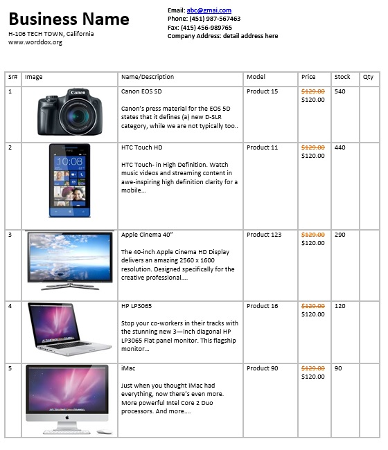 Here Is Preview Of Another Sample Wholesale Price List Template Created  Using MS Excel,  Excel Price List Template