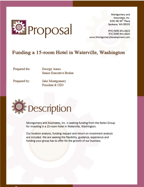 Here Is Preview Of Another Sample Real Estate Proposal Template In PDF  Format,  Commercial Proposal Template