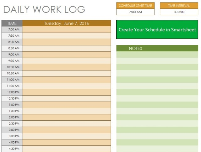 10 free sample daily log templates printable samples pronofoot35fo Image collections