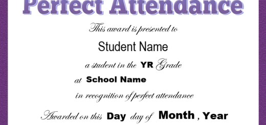 13 free sample perfect attendance certificate templates printable 8 free sample attendance certificate templates yelopaper Gallery